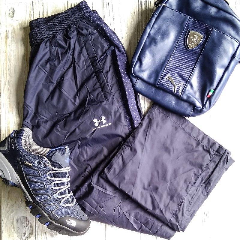 Штаны мужские спортивные Under Armour синий цвет плащёвка