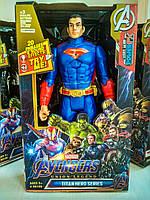 Игрушка Супермен 29 см, звуковые и световые эффекты, фигурка супергероя для мальчиков