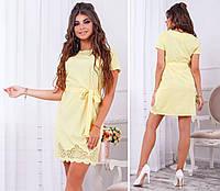 Платье с выбитым рисунком , арт. 109, нежный желтый, фото 1