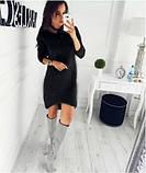 Тепле плаття трикотаж шерсть на хутрі VN380, фото 2