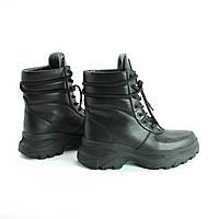 Кожаные женские ботинки на шнурках Возможен отшив в других цветах кожи и замши, фото 1