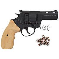 Револьвер под патрон Флобера Streamer R2 black бук, фото 1