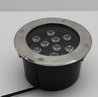 Грунтовый светодиодный светильник 9W Одноцветный