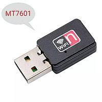 USB WiFi адаптер на чипе MT7601 со встроенной антенной для ПК, ноутбуков, тв тюнеров, ресиверов, Т2