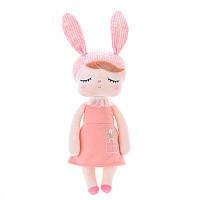Игрушки в кроватку-мягкая игрушка-сплюшка зайка-сплюшка Metoo Анжела в коралловом+подарочный пакет