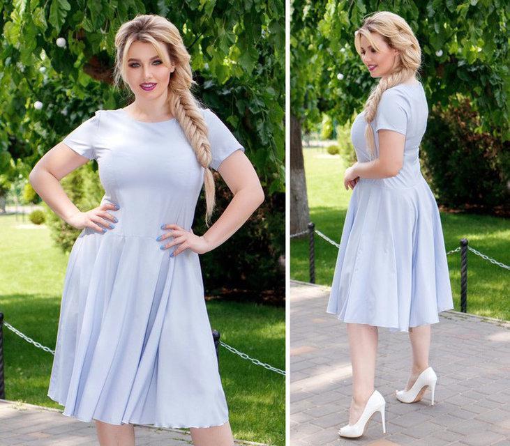 Приталене плаття арт. 103/2 блакитне