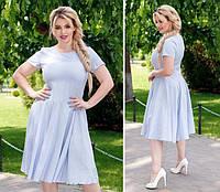 Приталене плаття арт. 103/2 блакитне, фото 1