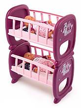 Smoby кроватка колыбель для куклы пупса близнецов двойни прованс 220345 baby nurse provans double