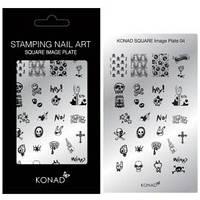 Мини пластина для стемпинга Konad Square Image Plate 04