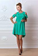 Платье  арт. 785 изумрудный зеленый