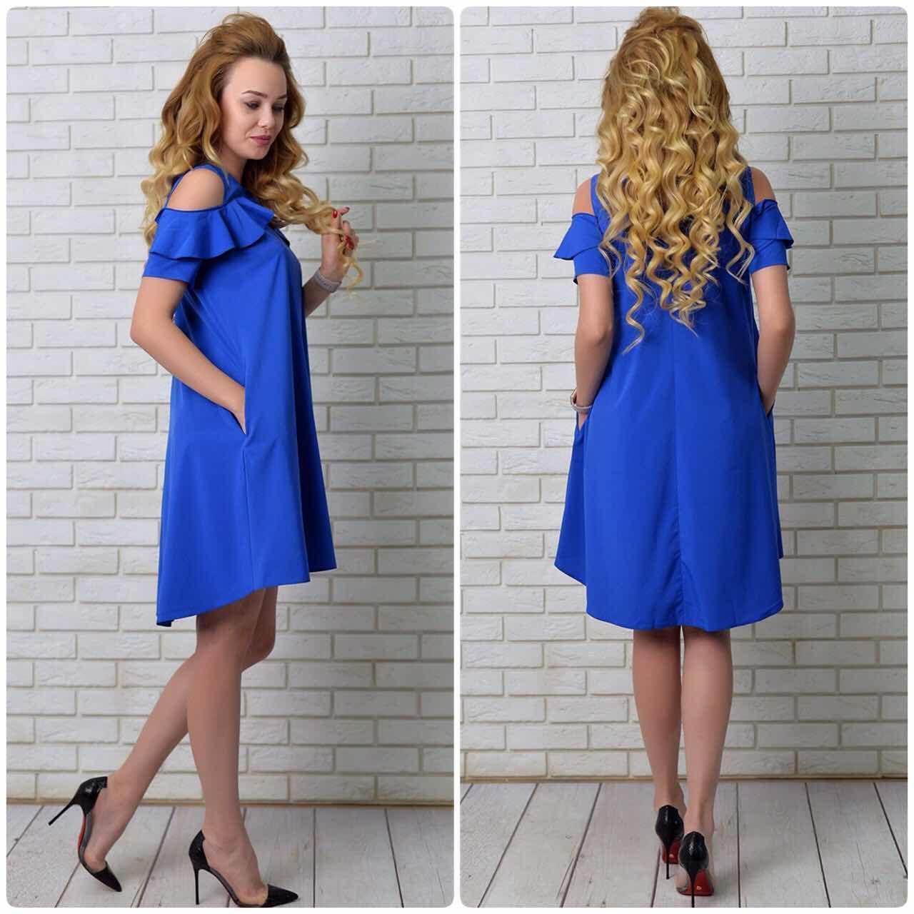 Платье  арт. 785 яркий синий