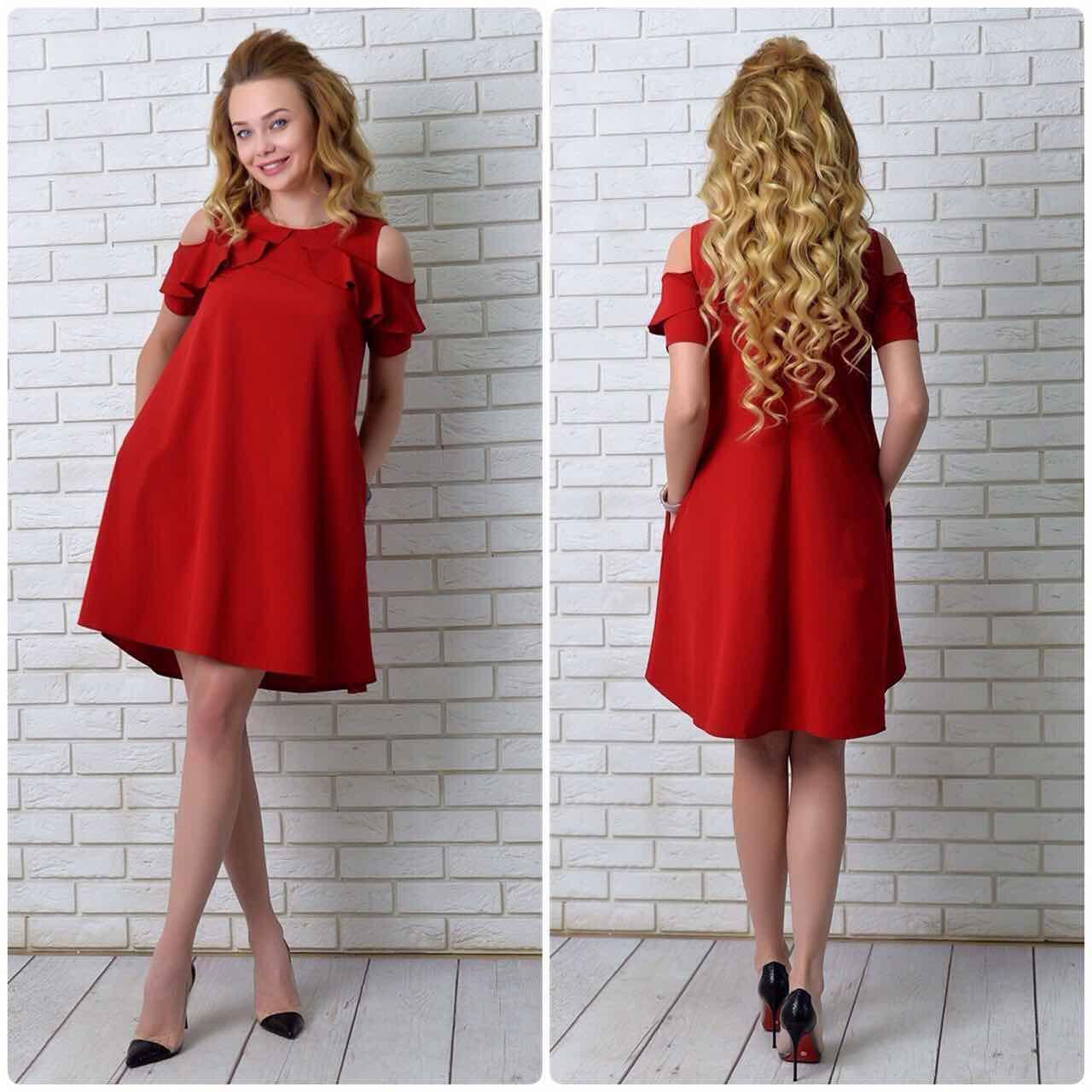 Платье  арт. 785 вишневое