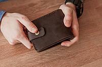 Карманное мужское портмоне из натуральной кожи_небольшой  мужской кошелек Oskar