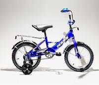 """Велосипед Марс 16"""" р.тормоз+эксцентрик (синий/черный) (С1601 с/ч)"""