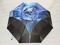 Женский зонт полный автомат с розой