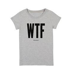 """Футболка жіноча """"WTF"""" сіра"""