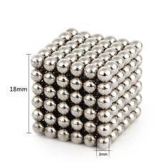 🔥 Головоломка NeoCube (Неокуб) 216 шариков, 3мм, Никель