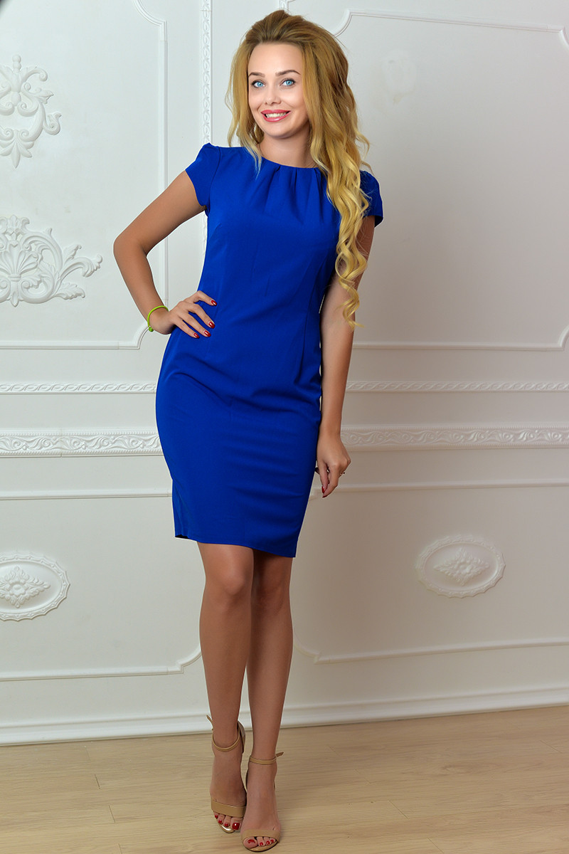 Платье арт. 716, ярко синее