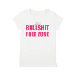 "Футболка женская ""Bullshit Free Zone"""