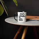 """Чашка керамическая с надписью """"Experiment Fail Learn Repeat"""", 330 мл подарочная, фото 2"""