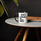 """Чашка керамічна з написом """"Experiment Fail Learn Repeat"""", 330 мл подарункова, фото 2"""