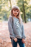 Детский свитшот для девочки TIFFOSI Португалия 10030972 Серый