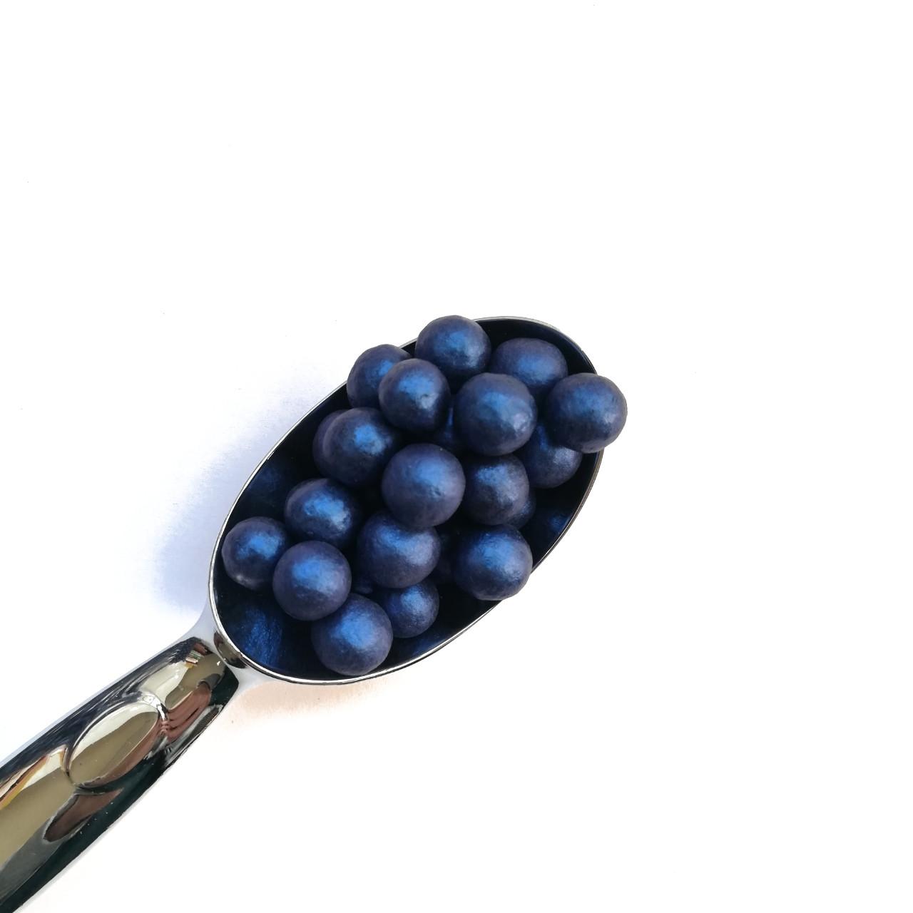 Жемчужины перламутровые синие 10мм (25г)