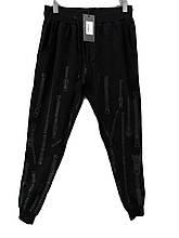 Брюки мужские трикотажные на манжетах Lagos спортивные штаны с надписями