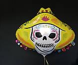 Фольгована кулька велика фігура Сомбреро череп 87х73см Anagram, фото 2