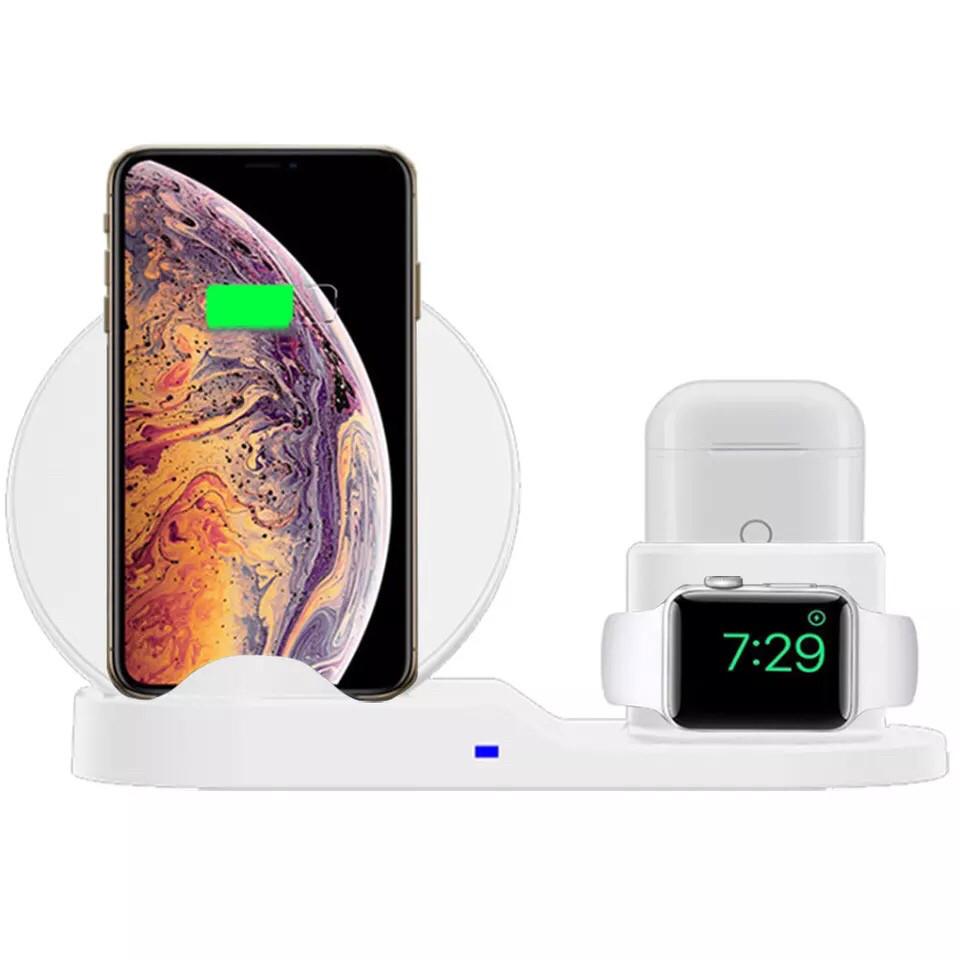 Беспроводная зарядка для гаджетов Apple (3в1) - iPhone, Apple Watch, AirPods