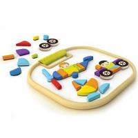 Hape Magnetic Animals Vehicles игрушка-головоломка из бамбука