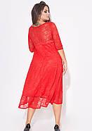 / Размер 50-52,54-56,58-60,62-64 / Женское платье А-силуэта 31973 / цвет красный, фото 2