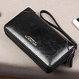 Чоловічий гаманець - клатч на блискавці, фото 8