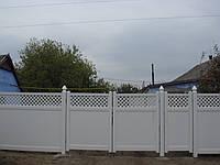 Ворота ПВХ  с решеткой сверху