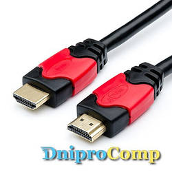 Кабель HDMI - HDMI Red/Gold (2м)
