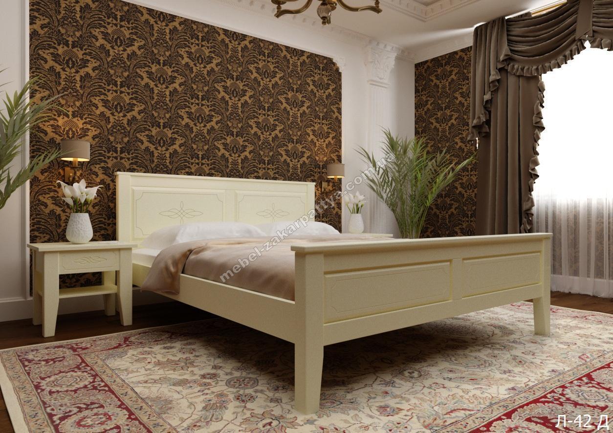 Кровать деревянная  Л-42 Д