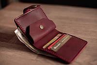 Компактный женский кожаный кошелек ручной работы_модель Lana