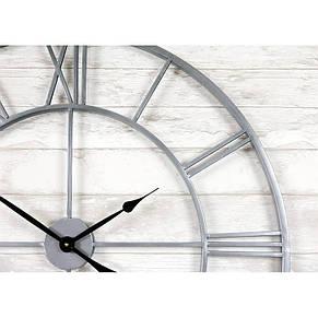 Часы настенные металлические в стиле винтаж  - Milano Silver 80 cm, фото 2