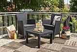 Набор садовой мебели Salvador Balcony Set из искусственного ротанга ( Allibert by Keter ), фото 9