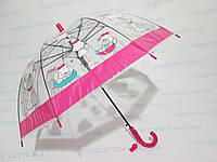 """Дитячий прозорий парасолька куполоподібний 3-7 років """"Кішечка"""", фото 1"""