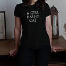 """Футболка GoT """"A girl has no"""" персонализированная женская, фото 4"""