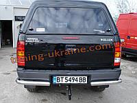 Задние углы одинарные для Тойота Хайлюкс 2007+ Защита заднего бампера уголки одинарные D70 Toyota Hilux 2007+