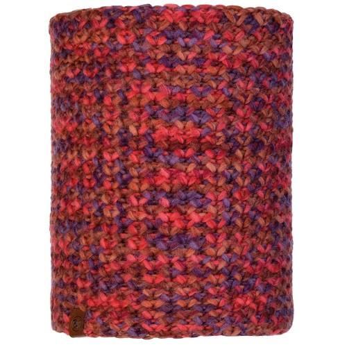Knitted&Polar Neckwarmer Buff Margo maroon
