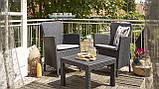 Набор садовой мебели Salvador Balcony Set Graphite ( графит ) из искусственного ротанга ( Allibert by Keter ), фото 7