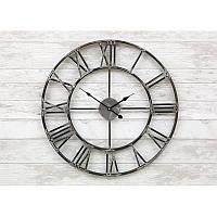 Часы настенные металлические в стиле лофт - Milano Grey 60 cm