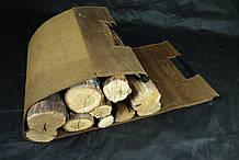 Сумка для дров из натуральной кожи.