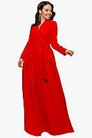 Женское платье в пол Красный