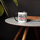 """Чашка с надписью """"Level up"""" именная, 330 мл подарочная керамическая, фото 4"""