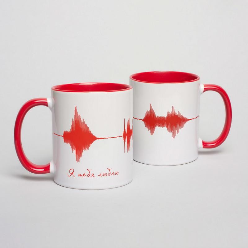 """Чашка с надписью """"Я тебя люблю"""", 330 мл подарочная керамическая"""