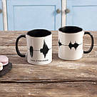 """Чашка с надписью """"Папа, я тебя люблю"""", 330 мл подарочная керамическая, фото 2"""